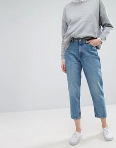 Джинсы в винтажном стиле с завышенной талией Monki Taiki - Синий