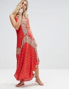 Платье макси с принтом Free People Faithfully Yours - Красный