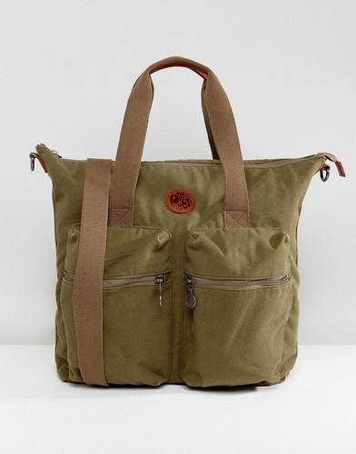 Парусиновая сумка-тоут цвета хаки Pretty Green - Зеленый