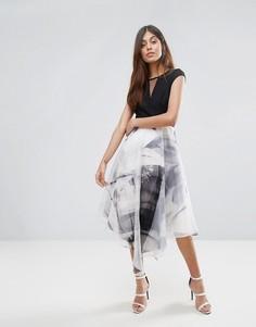 Платье миди с пышной юбкой из органзы Coast - Мульти