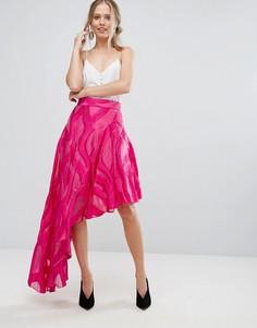 Асимметричная жаккардовая юбка Coast - Розовый