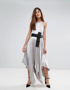 Платье-халтер Coast Elvie - Серебряный