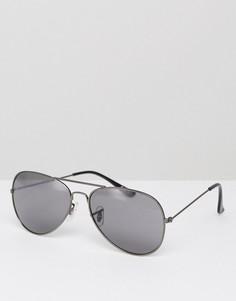 Черные солнцезащитные очки-авиаторы Burton Menswear - Черный