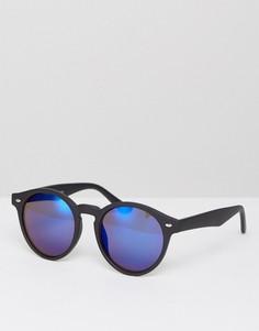 Черные круглые солнцезащитные очки Burton Menswear - Черный