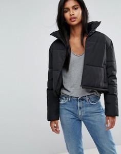 Укороченная дутая куртка Only - Черный