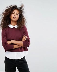 Свитер с рубашкой 2-в-1 Only - Фиолетовый