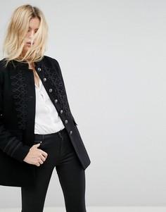 Куртка с отделкой в стиле милитари Only - Черный