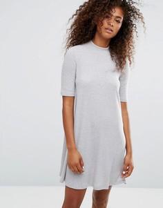 Трикотажное свободное платье Only - Серый