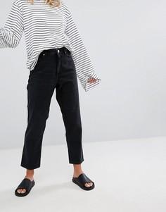 Джинсы в винтажном стиле с завышенной талией Monki Taiki - Черный