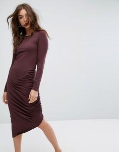 Платье со сборками Noisy May - Коричневый