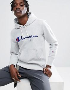 Серый худи с логотипом Champion - Серый