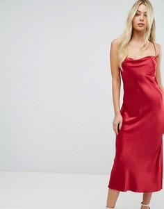 Шелковистое платье миди Bec & Bridge - Красный