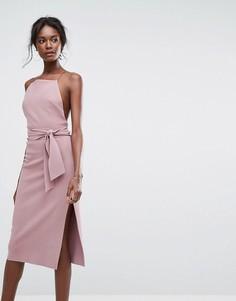 Платье миди с завязкой Bec & Bridge - Фиолетовый