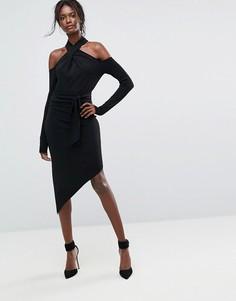 Платье миди с открытыми плечами Bec & Bridge - Черный