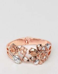 Браслет-манжета с цветочной отделкой Coast - Розовый