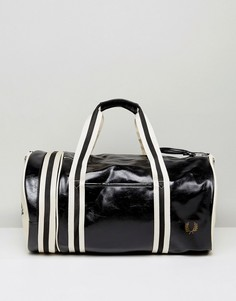 Кремово-черная сумка дафл Fred Perry - Черный