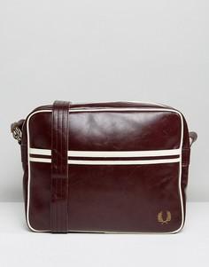 Бордовая сумка почтальона Fred Perry - Красный