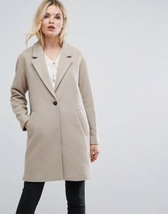 Оверсайз-пальто Selected - Серый