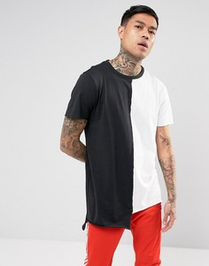 Черно-белая футболка колор блок New Look - Белый