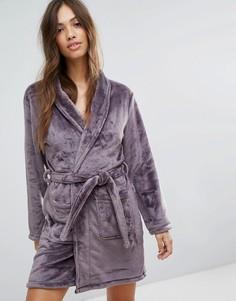 Пушистый халат New Look - Фиолетовый