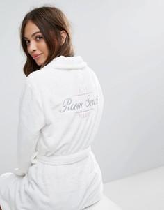 Пушистый халат New Look Room Service - Белый