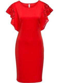 Платье с вырезами (красный) Bonprix