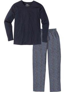 Пижама (темно-синий с узором) Bonprix