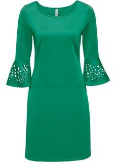 Платье с разрезами (зеленый) Bonprix