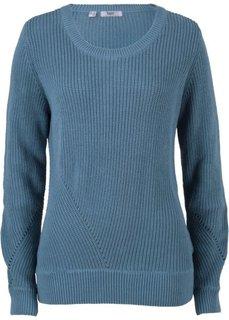 Пуловер с длинным рукавом (синий джинсовый) Bonprix