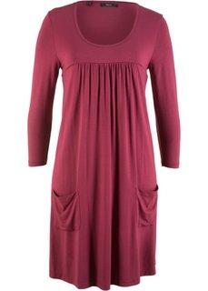 Трикотажное платье с рукавами 3/4 (красный) Bonprix