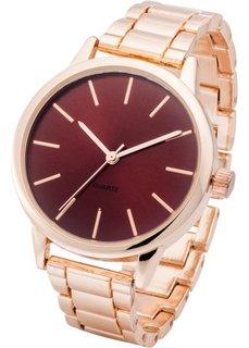 Часы с красным циферблатом (красный/розово-золотистый) Bonprix