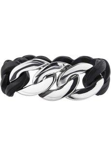 Силиконовый браслет (серебристый/черный) Bonprix