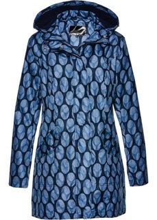Удлиненная куртка с принтом (темно-синий/белый с рисунком) Bonprix