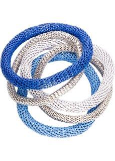 Набор браслетов (5 изд.) (синий + серебристый + белый) Bonprix