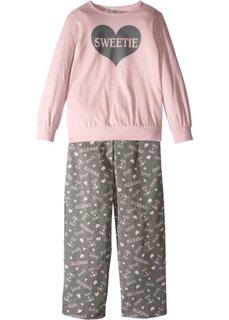 Пижама (2 изд.) (нежно-розовый/серый меланж) Bonprix