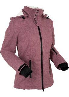 Функциональная куртка на плюшевой подкладке (бордовый меланж) Bonprix