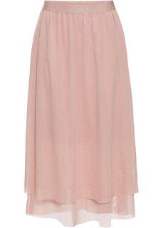 Юбка из сеточки (винтажно-розовый) Bonprix