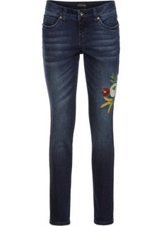 Джинсы-дудочки с вышивкой (темно-синий деним) Bonprix