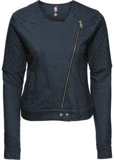 Трикотажная куртка в байкерском стиле (антрацитовый меланж) Bonprix