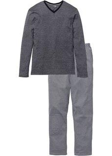 Пижама (черный/белый в клетку) Bonprix