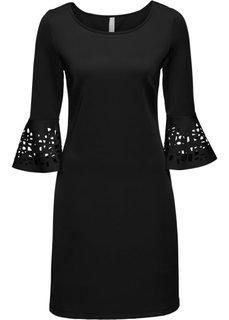 Платье с разрезами (черный) Bonprix