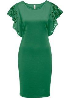 Платье с вырезами (зеленый) Bonprix