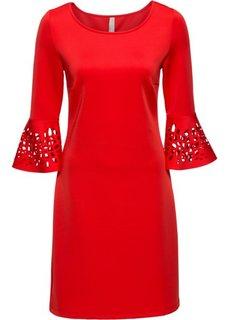Платье с разрезами (красный) Bonprix