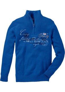 Пуловер Regular Fit (лазурный) Bonprix