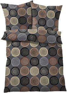 Постельное белье Круги, фланель (коричневый) Bonprix