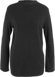 Пуловер с широкими рукавами (черный) Bonprix