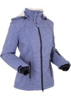 Функциональная куртка на плюшевой подкладке (меланжевая ночная синь) Bonprix