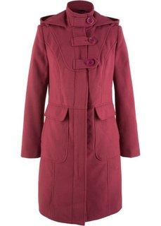 Пальто с капюшоном (бордовый) Bonprix