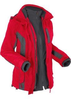 Функциональная куртка 3 в 1 (красный/антрацитовый) Bonprix