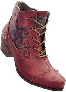 Ботинки Mustang на шнурках (красный) Bonprix